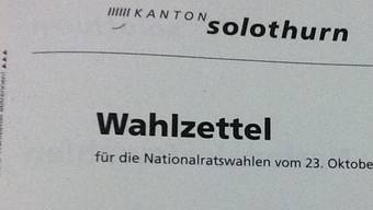 Wahlzettel aus Solothurn