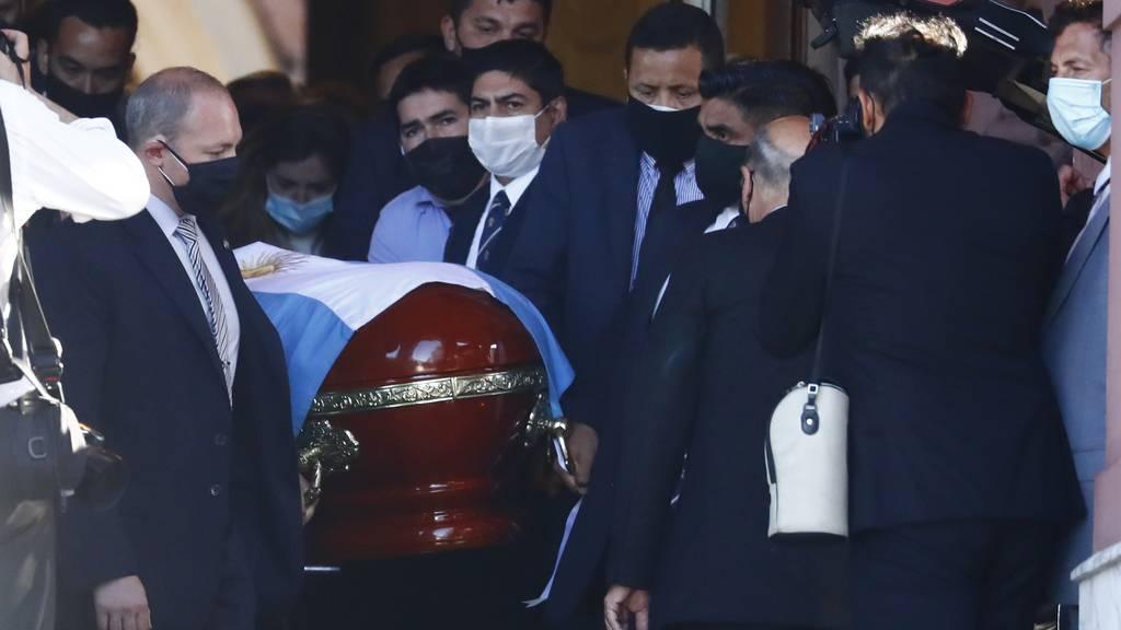 Abschied vom «Goldjungen»: Fussballikone Maradona beigesetzt
