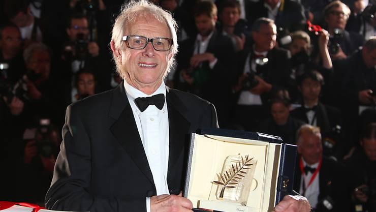 Der britische Regisseur Ken Loach präsentiert in Cannes seine zweite Goldene Palme.