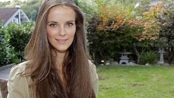 Klare Ziele: Das Nachwuchsmodel Larissa Kirchhofer im Garten zu Hause in Hochwald.