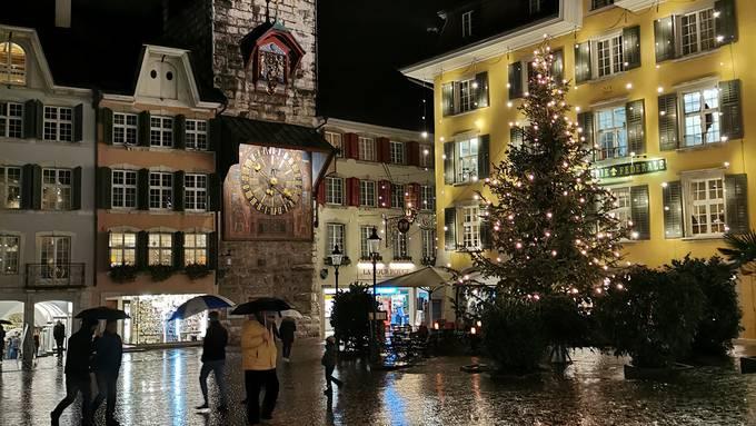 Solothurner Altstadt in Adventsstimmung
