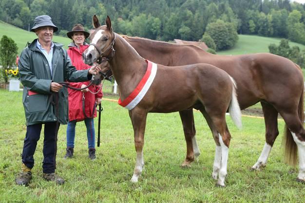 Rappelsieger Lennox von Rüttimatt, gezüchtet von Remo und Martha Franz aus Pfeffingen.