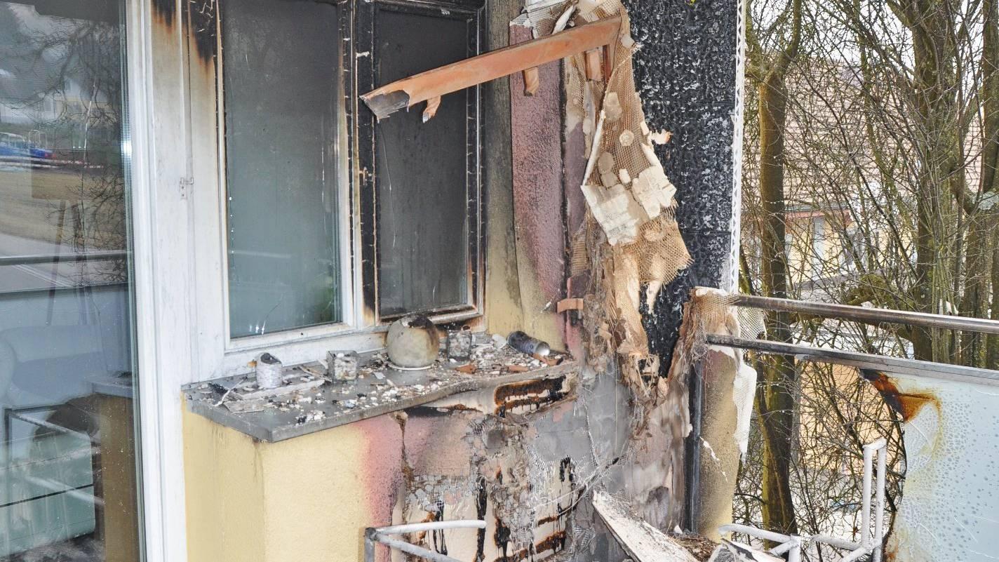 Der Brand wurde durch ein Feuerwerk ausgelöst.
