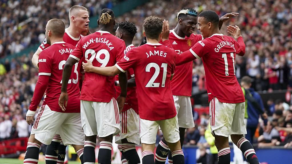 In der zweiten Halbzeit kamen die Spieler von Manchester United aus dem Jubeln nicht heraus.