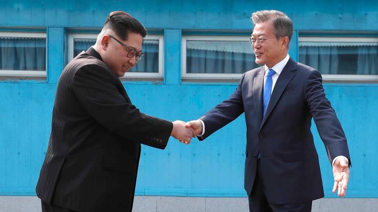 ... hat Kim Jong Un die Grenze nach Südkorea überquert.