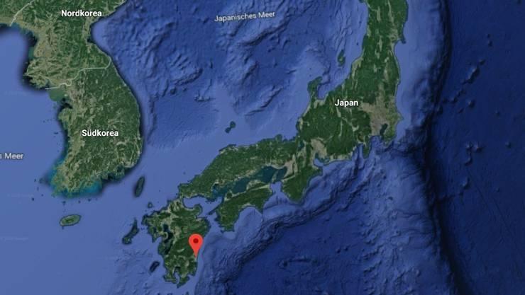 Das Beben ereignete sich im Südwesten Japans in der Region Miyazaki.