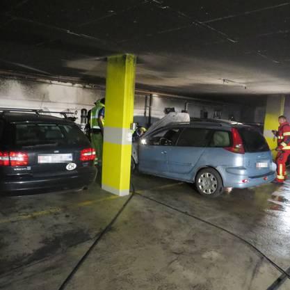 Birrwil AG 16. Juni: Fahrzeugbrand in einer Tiefgarage.