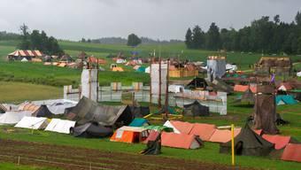Ein Lagerplatz, fünf Dörfer: Die Heimat der Pfadis aus dem ganzen Kanton während zweier Wochen.