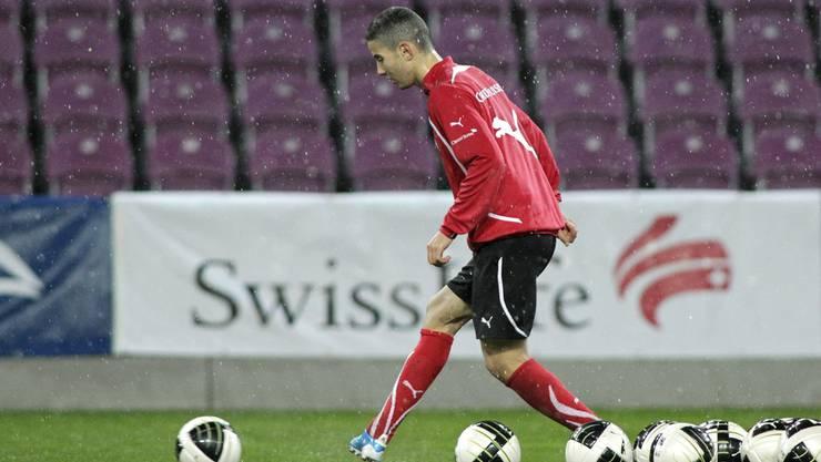 Youngster Nassim Ben Khalifa, erstmals mit dabei.