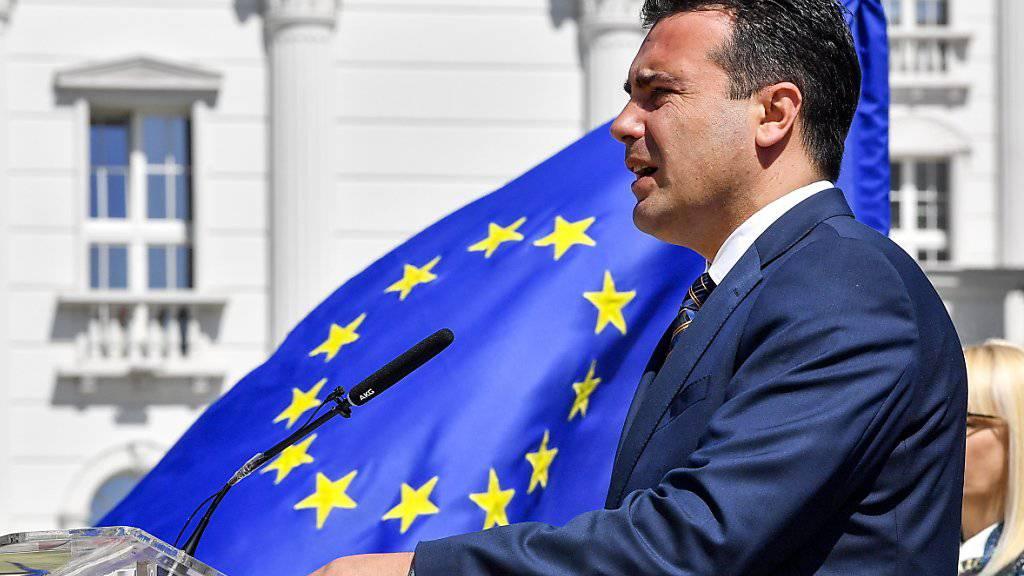 Der mazedonische Ministerpräsident Zoran Zaev hat sich mit dem griechischen Amtskollegen auf den neuen Namen seines Landes geeinigt.