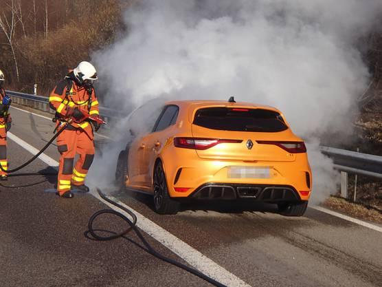 Die Automobilistin konnte den Wagen auf den Pannenstreifen lenken und unverletzt verlassen.
