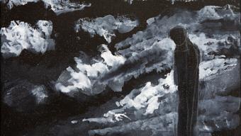 Johanna Borner zu diesem Werk: «Wolken ziehen übers Land. Es wird dunkel. Aber der Mensch weiss: Wolken verschwinden wieder.»