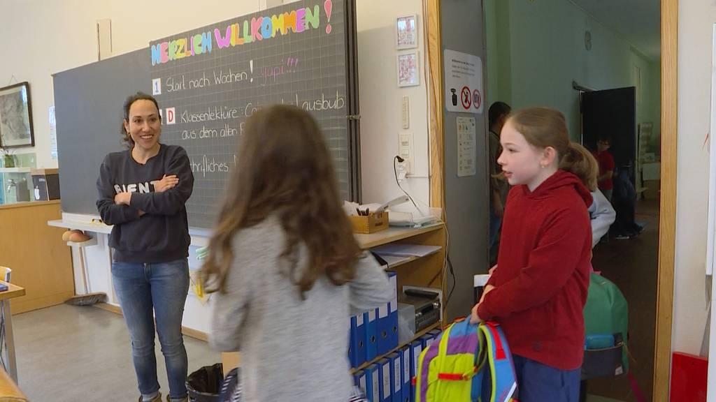 Lockdown-Lockerung: Erster Schul- und Kindergartentag in Hutten