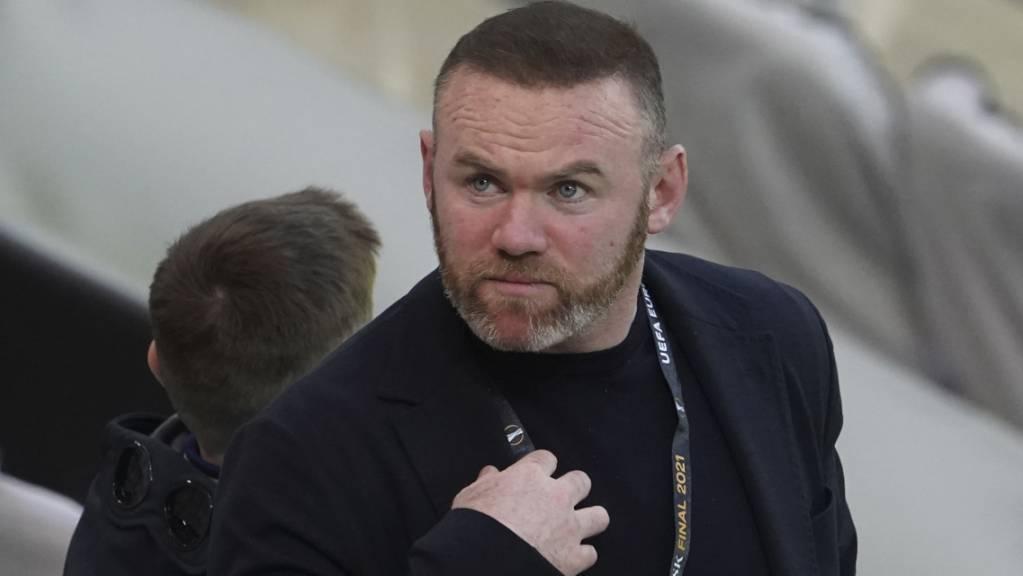 Wayne Rooney, seit Anfang Jahr als Trainer bei Derby County tätig, macht sich Sorgen um seinen Klub