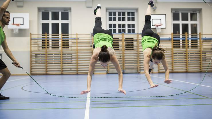Rope Skipping-Training des STV Dietikon am 4. Oktober 2017. Die Rope Skipper des STV Dietikon organisieren mit Rope Skipping Swiss am 4. November 2017 die Rope Skipping Schweizermeisterschaften in Bonstetten.
