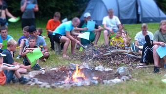 Sommer, Sonne, Lagerfeuer: Die Jungwacht Wohlen im Sommerlager vor einem Jahr.