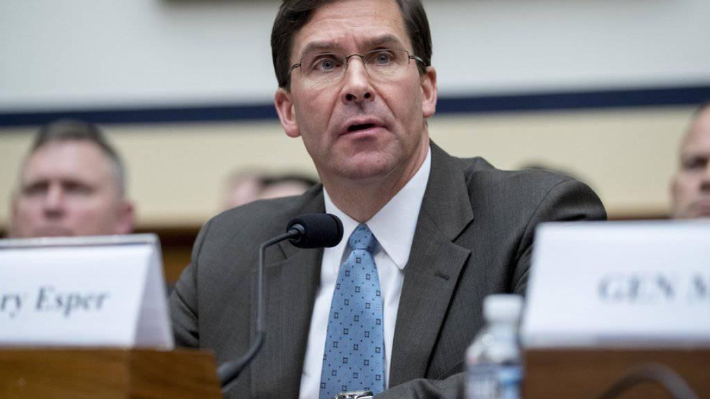 Mark Esper wird neuer kommissarischer US-Verteidigungsminister. (Archivbild)