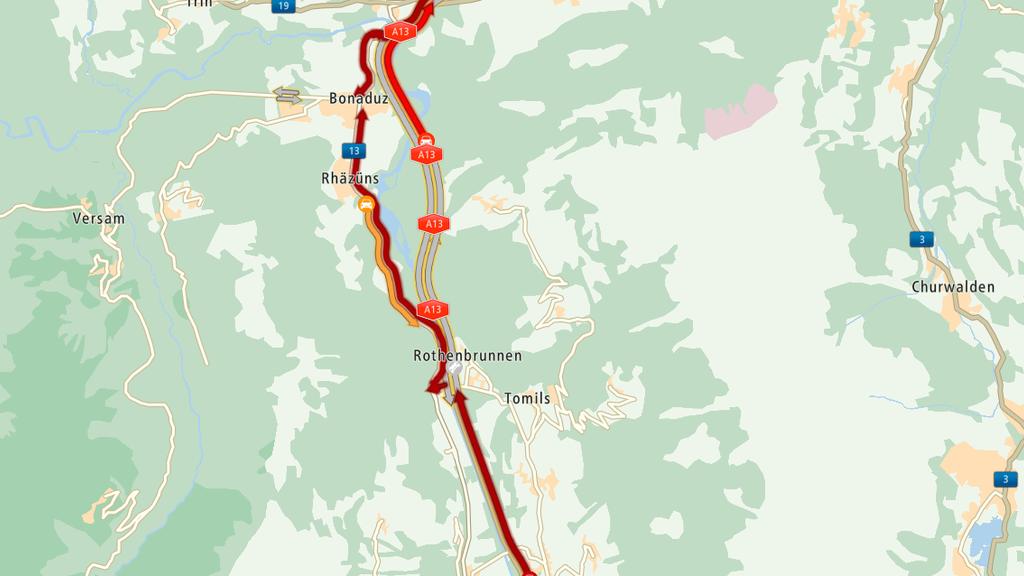 Wegen eines Unfalls ist das Isla-Bella-Tunnel gesperrt.
