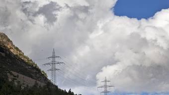 Die Hochspannungsleitung am Berninapass (Symbolbild)