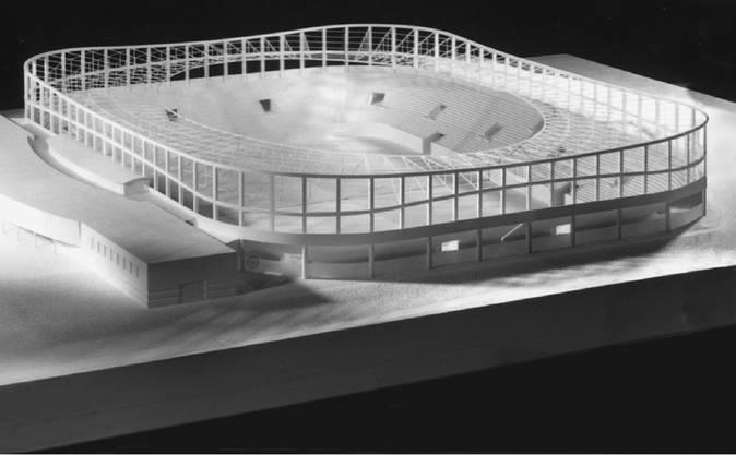 """Sie nennen es """"Vision 2002"""": Architekt und Ex-Fc-Aarau-Präsident Ernst Lämmli sowie Bauingenieur und Landbesitzer Peter Zubler wollen in Schafisheim ein Stadion in der Kiesgrube bauen. Für 30 Millionen Franken und 20'000 Zuschauer, inklusive Casino."""
