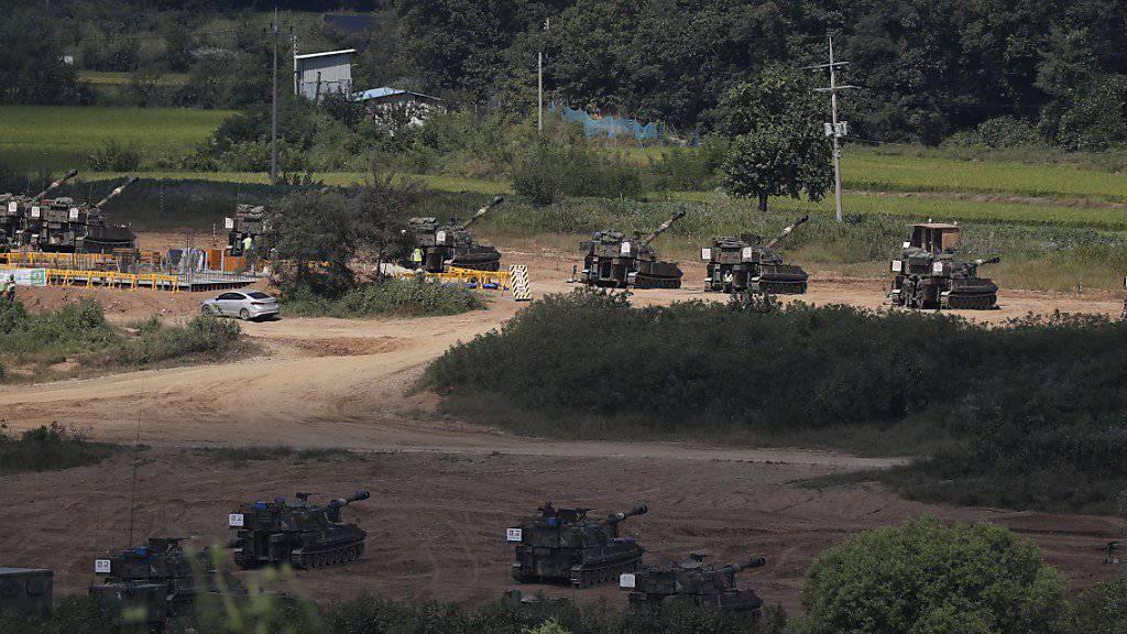 Südkorea und die USA sowie China und Russland halten derzeit Militärmanöver in der Nähe Nordkoreas ab. (Archiv)