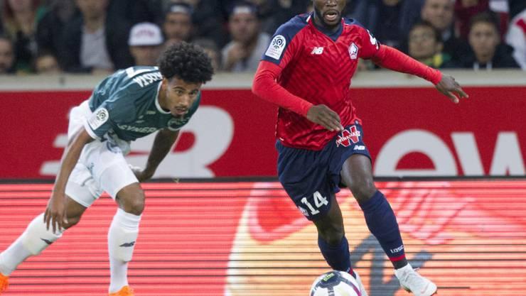 Jonathan Bamba steuert eine Doublette zu Lilles Sieg im Verfolgerduell gegen Marseille bei