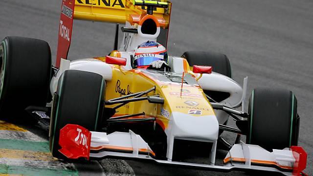 Romain Grosjean in seinem Boliden