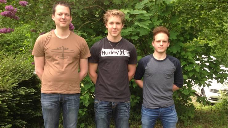 Das Podest im Dreistellungsmatch mit (von links) Thomas Wüest, Jan Lochbihler und Pascal Albrecht.