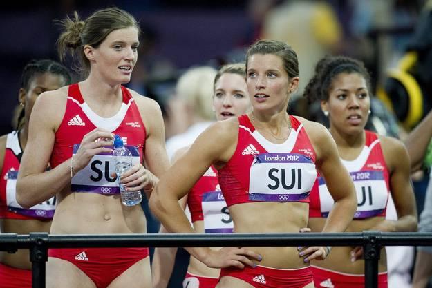 Die Schweizerinnen um Mujinga Kambundji (ganz rechts) qualifizieren sich zwar für das Highlight des Jahres, scheiden aber erwartungsgemäss im Vorlauf aus.