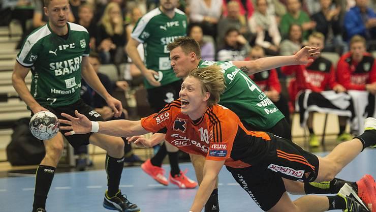 Christoffer Brännberger erzielt eines seiner fünf Tore