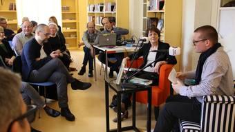 Jolanda Urech im Gespräch mit Moderator Samuel Steiner