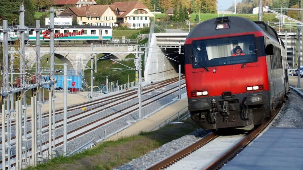 Bahn-2000-Zugstrecke zwischen Bern und Olten unterbrochen