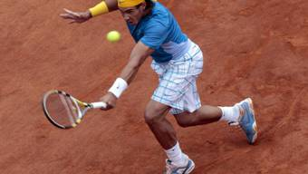 Rafael Nadal setzte sich in Rom auf dem durchnässten Sand durch