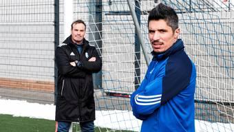 Der sensible Stürmer Cristian Ianu (rechts) und der sanftmütige Trainer Martin Rueda – das könnte passen.