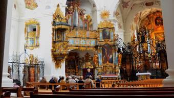 Führungen in der Klosterkirche Muri, hier mit Hardy Ketterer, sind sehr beliebt.