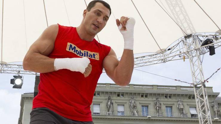 Klitschko macht sich warm für den Fight gegen Tony Thompson