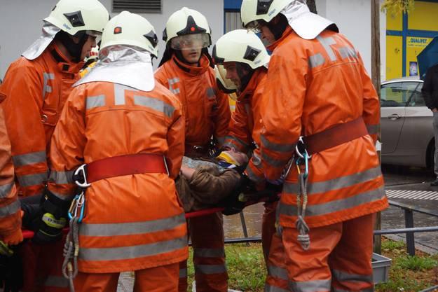 Hauptübung für die Feuerwehrmänner aus Schlieren.