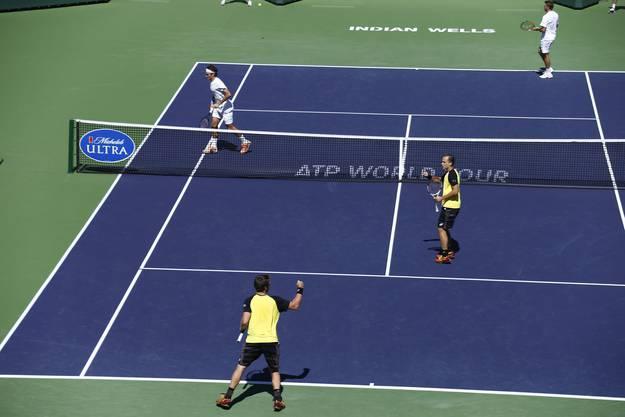 Kein Durchkommen für Federer/Wawrinka gegen Alexander Peya und Bruno Soares.