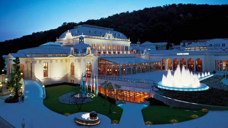 Imposant: Auch in Baden bei Wien gibt es ein Casino, und zwar ebenfalls in einem historischen Bau, der modern erweitert worden ist. (Bilder HO)