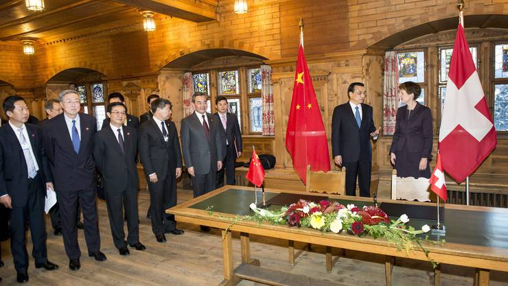 Am Rand des WEF sind sich die Schweiz und China einen weiteren Schritt näher gekommen.