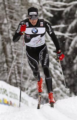 Dario Cologna hinterlässt Spuren im Schnee von Toblach.keystone