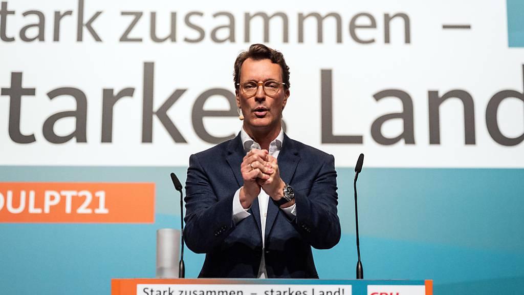 Laschet-Nachfolge: NRW-CDU wählt Hendrik Wüst zum neuen Parteichef