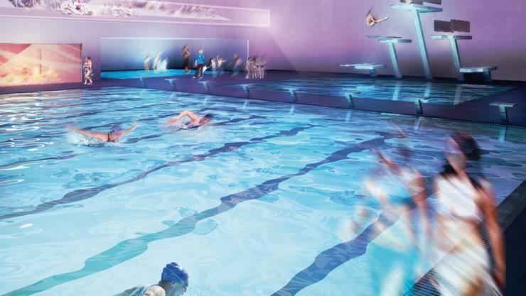 So könnte das Paradies für Sportschwimmer im Aquabasilea eines Tages aussehen.