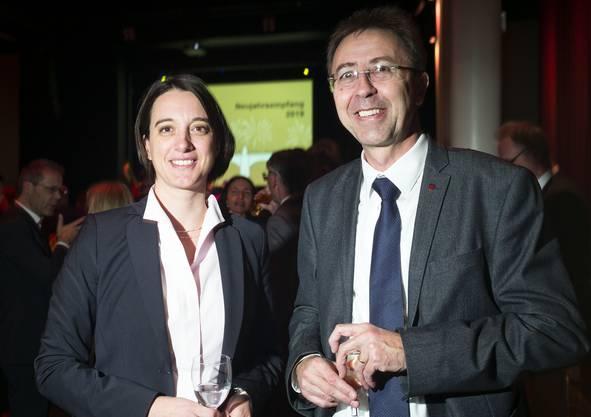 Nicole Hostettler, Leiterin Amt für Wirtschaft und Arbeit BS und Henri-Claude Schaller, Leiter Amt für Wirtschaft und Arbeit Kt. Jura
