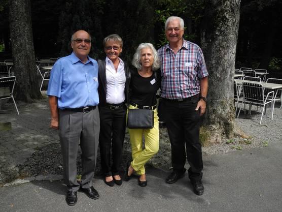 Der Nyffenegger-Clan: Fritz, Julie, Heidi und Bruno (v.l.n.r.). Mit Jahrgang 1949 war Heidi die Jüngste am Treffen.