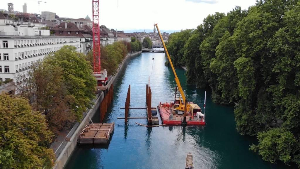 Hier entsteht das Stelzen-Provisorium von Schutz und Rettung Zürich