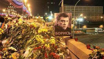 Ort der Ermordung des Regierungskritikers Nemzow in Moskau