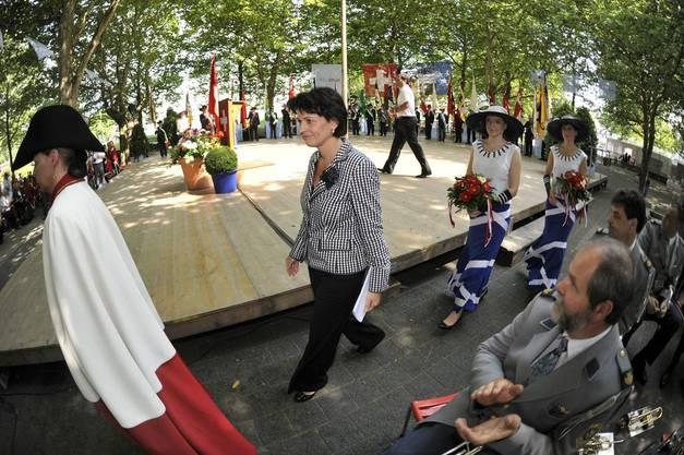 Doris Leuthard am Schützenfest