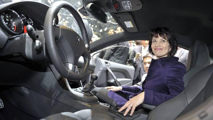 Bundespräsidentin Doris Leuthard eröffnet den Autosalon in Genf.