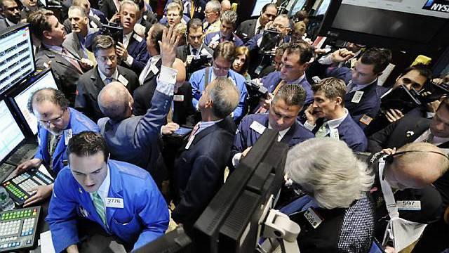 Händler an der New Yorker Wall Street